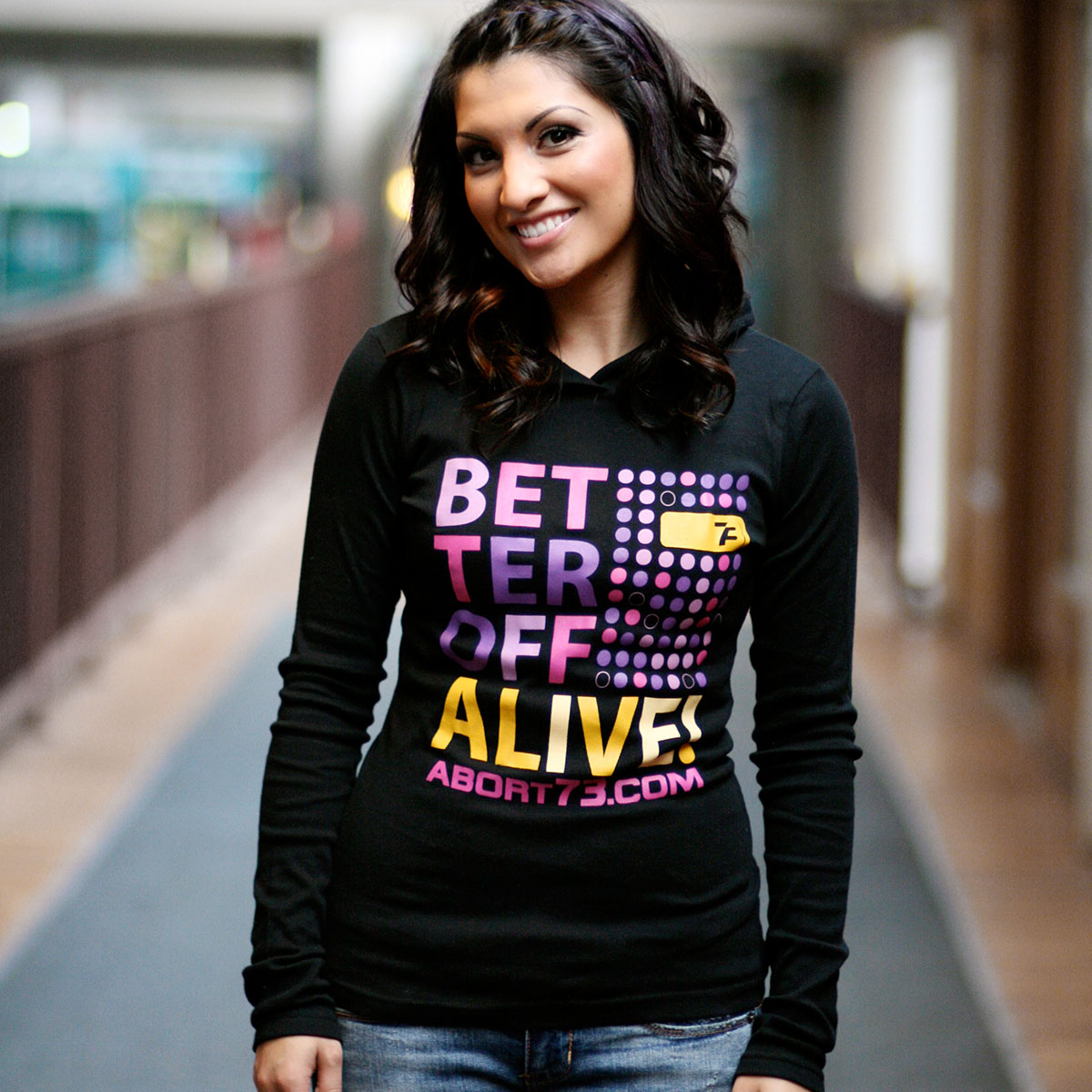 Better Off Alive (Abort73 Girls Longsleeve Hoody)