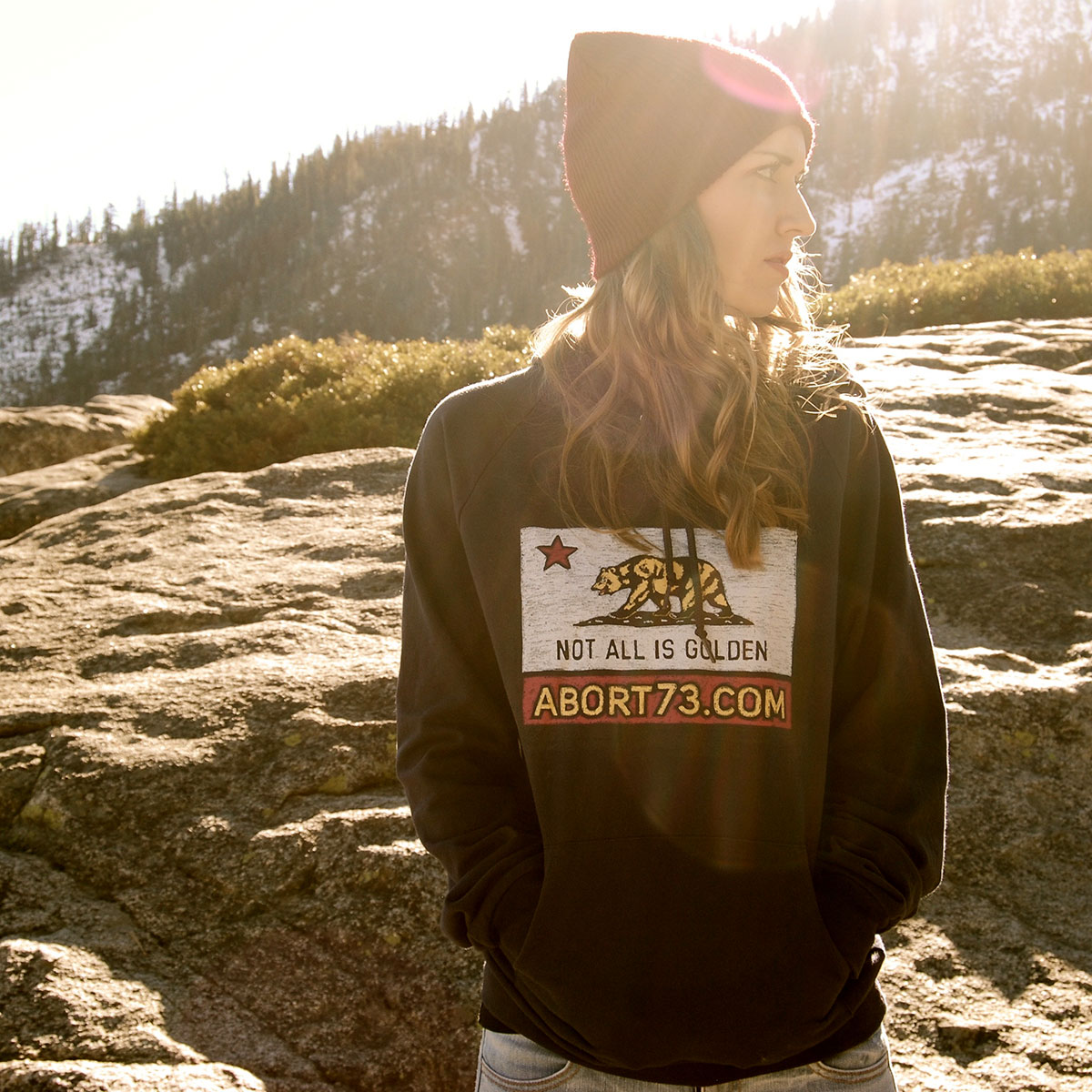 Not All is Golden (Abort73 Unisex Fleece Hoody)