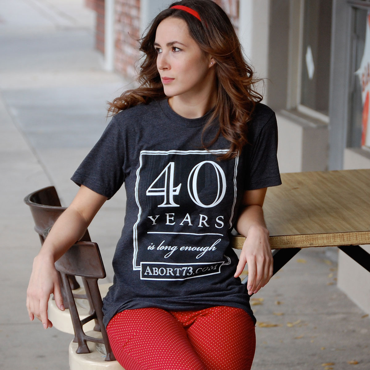 40 Years is Long Enough (Abort73 Unisex 50/50 T-shirt)
