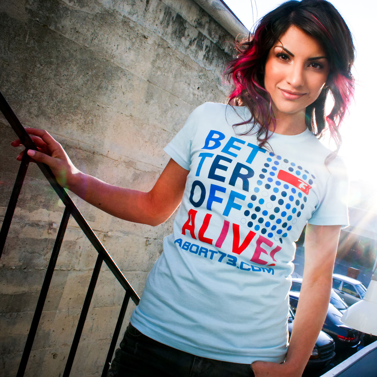 Better Off Alive (Abort73 Girls T-shirt)