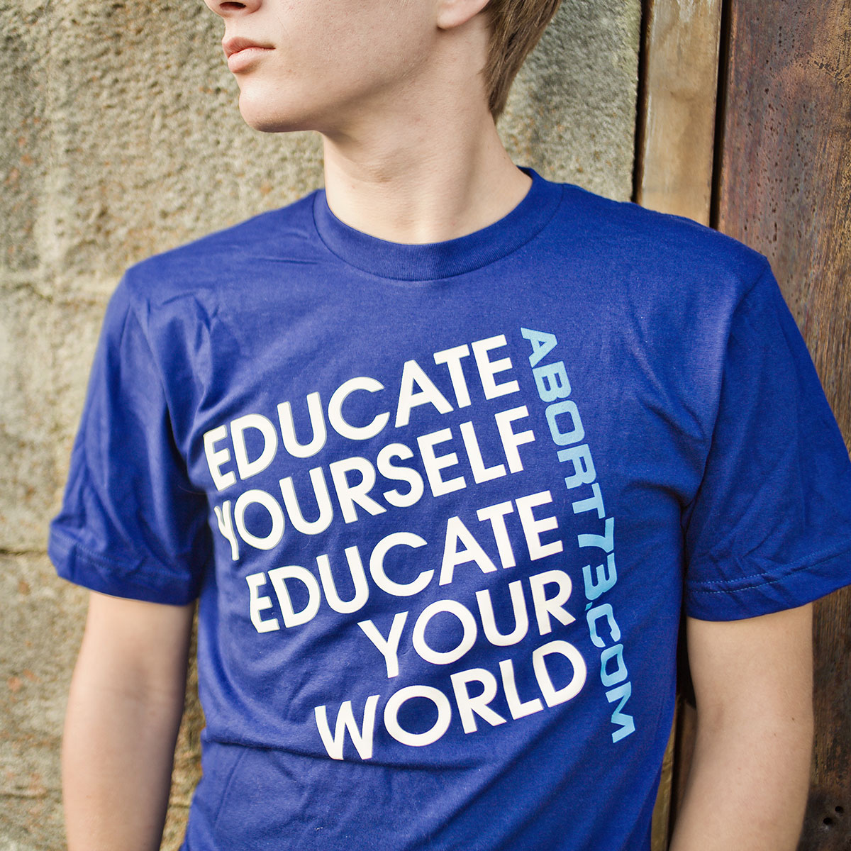 Educate Yourself. Educate Your World. (Abort73 Unisex T-shirt)