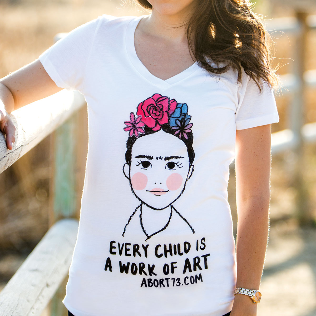 Every Child is a Work of Art (Abort73 Girls V-neck)