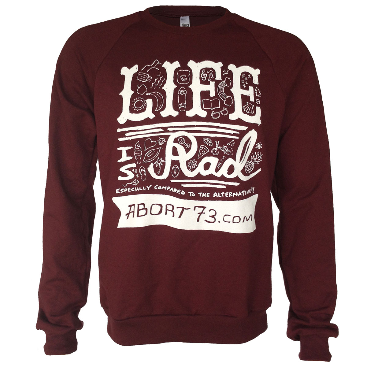 Life is Rad (Abort73 Unisex Fleece Raglan)