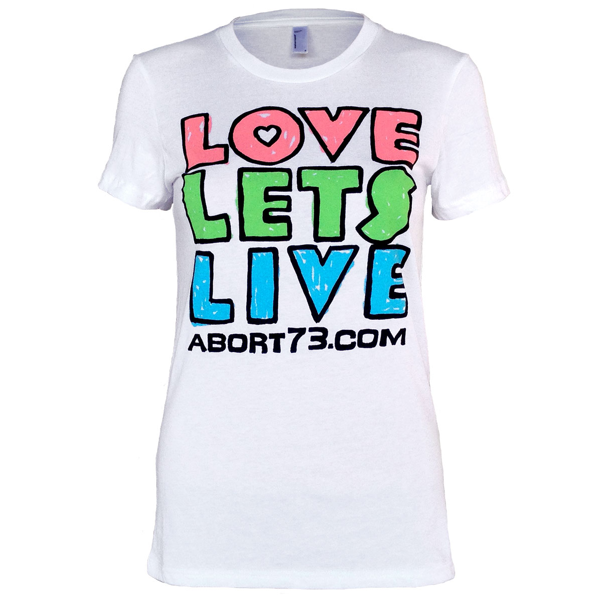Love Lets Live (Alternate) (Abort73 Girls T-shirt)