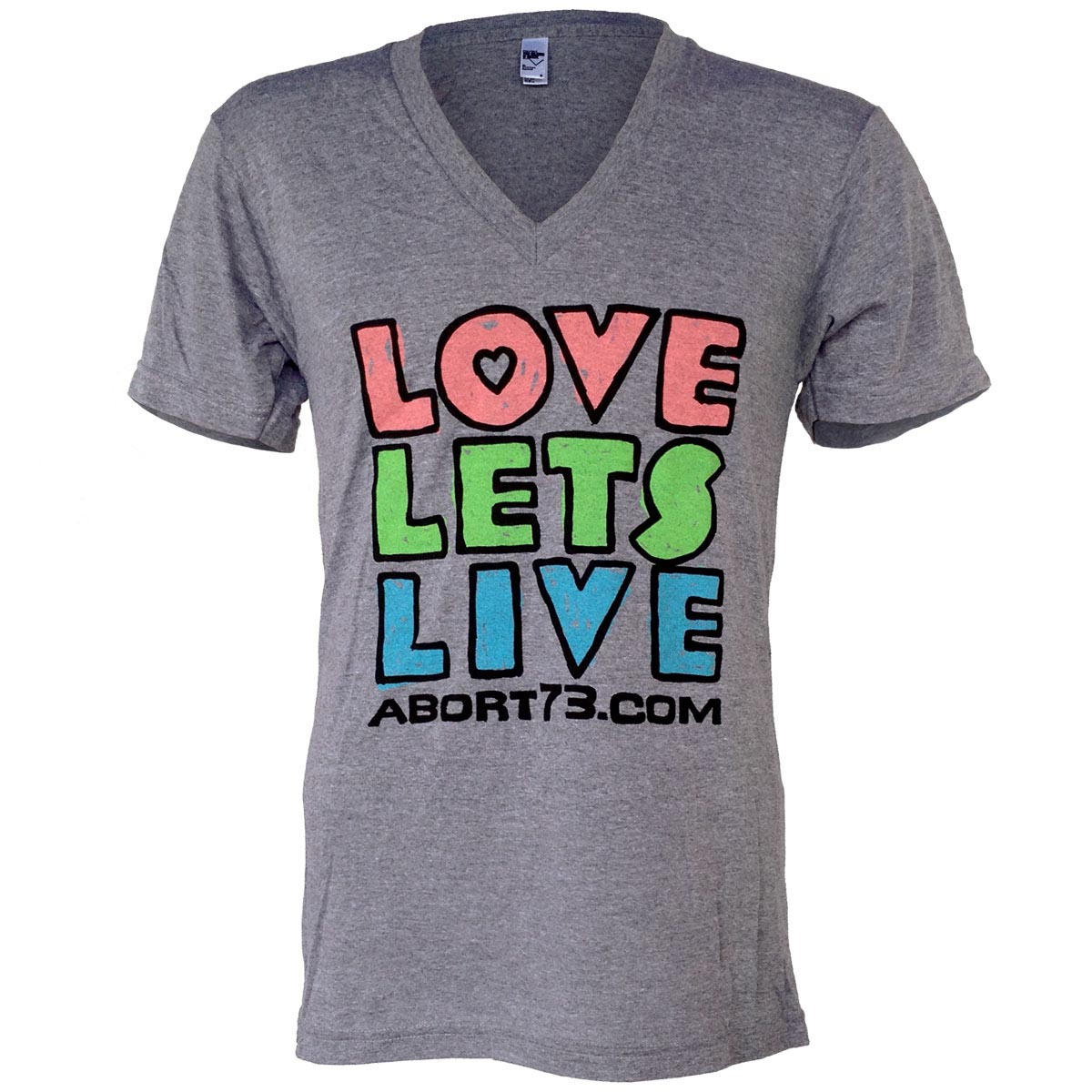 Love Lets Live (Alternate) (Abort73 Unisex 50/25/25 V-neck)