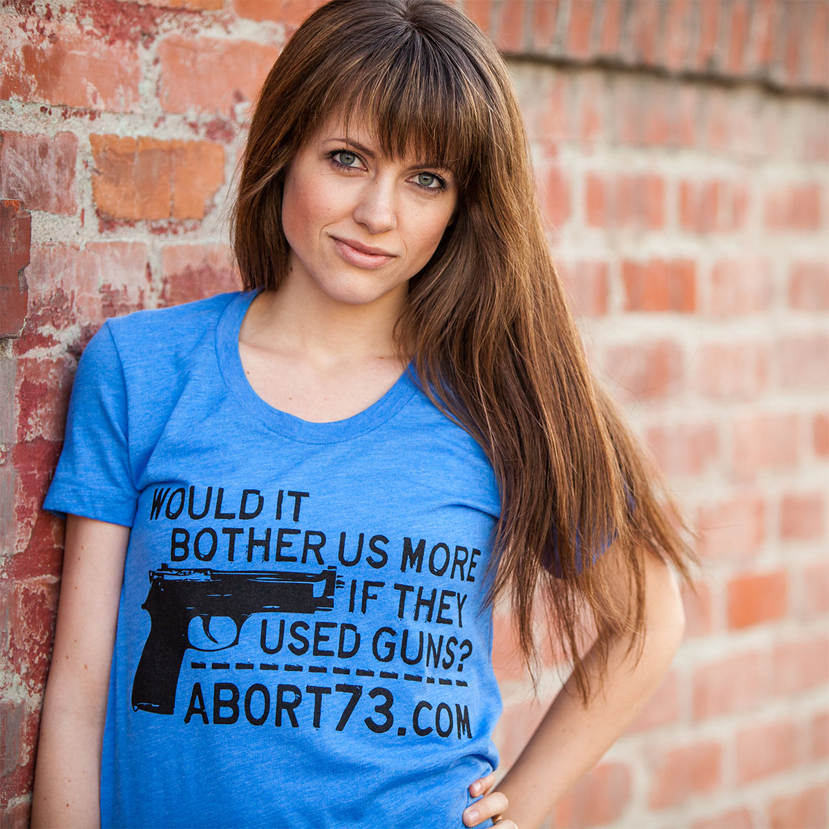 Would it Bother Us More if They Used Guns? (Abort73 Girls 50/50 T-shirt)