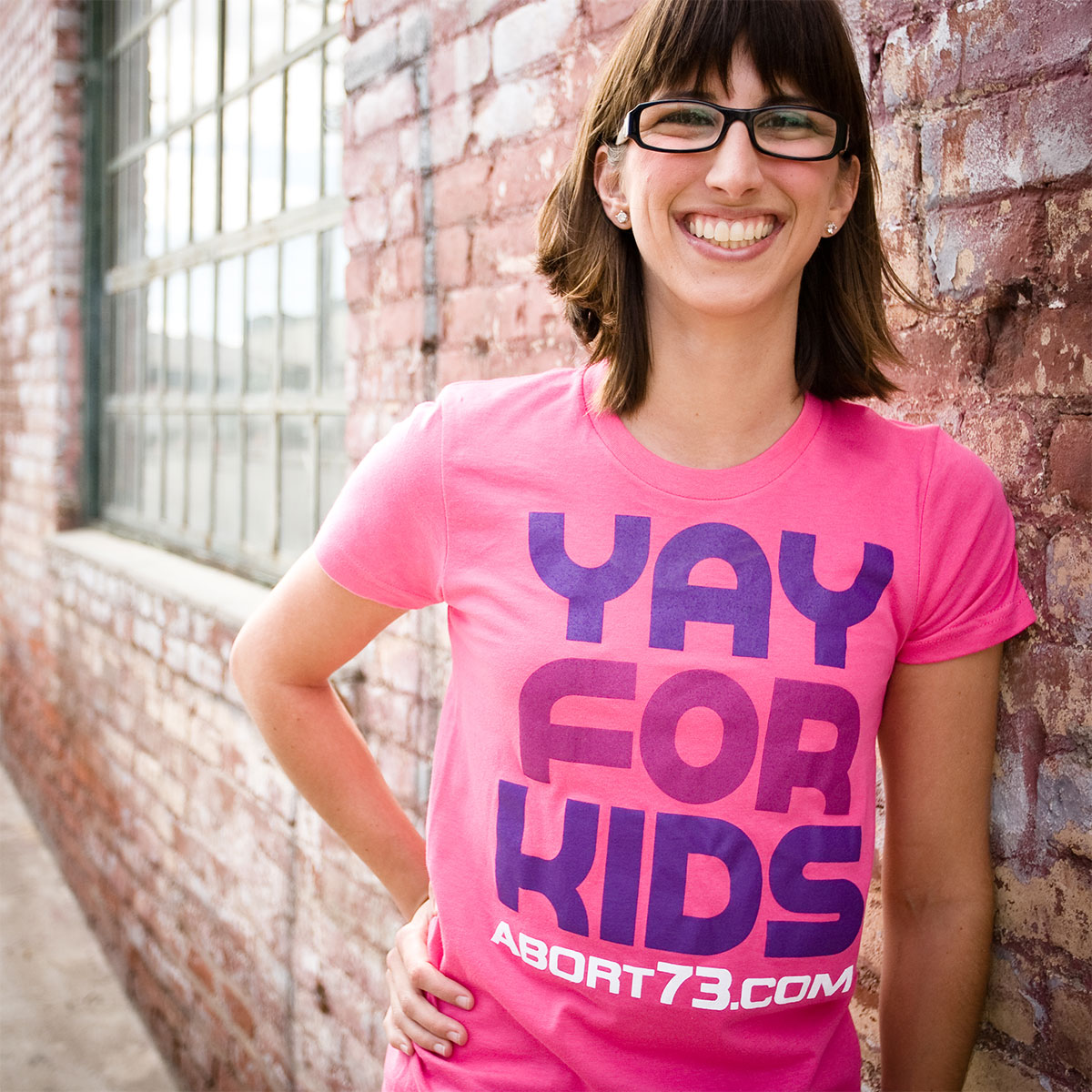 Yay for Kids (Abort73 Girls T-shirt)