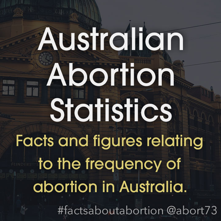 Australian Abortion Statistics: Facts and figures relating to the frequency of abortion in Australia.