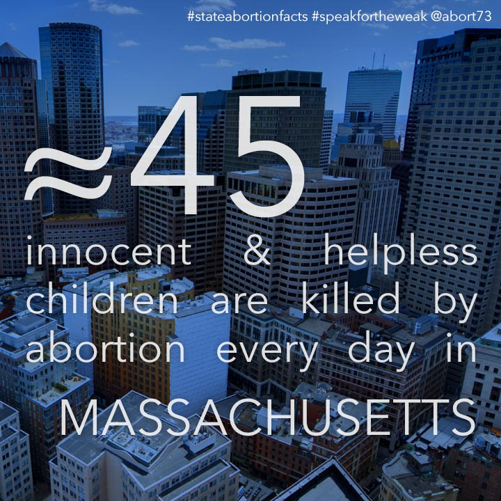 ≈ 51 innocent & helpless children are killed by abortion every day in Massachusetts